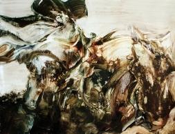 El Jinete Liv (óleo sobre papel 70 x 50 cms 2014)